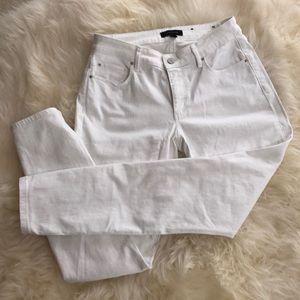 Ann Taylor Skinny White Jeans size 2